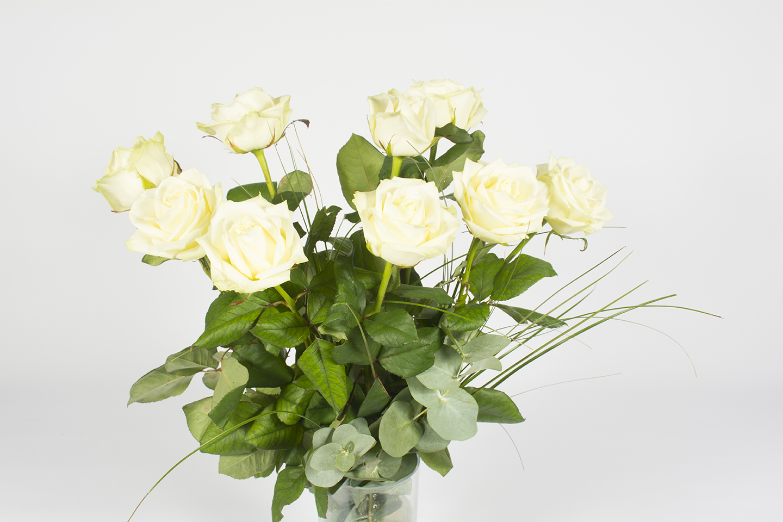 Extrêmement Bouquet de roses blanche – Chantilly - Livraison fleurs Le Mans WV59
