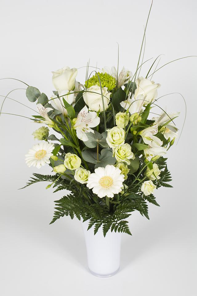 Bouquet Hauteur Vert Et Blanc Reglisse Livraison Fleurs Le Mans