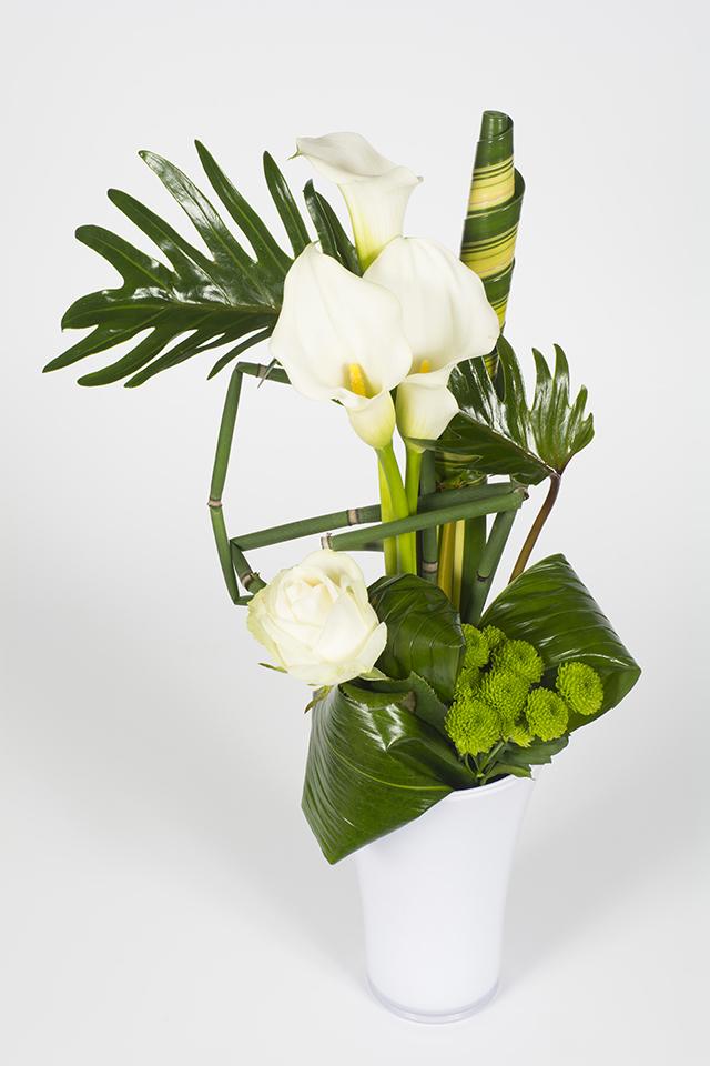 Bouquet lin aire vert et blanc amande livraison fleurs for Bouquet de fleurs vert et blanc