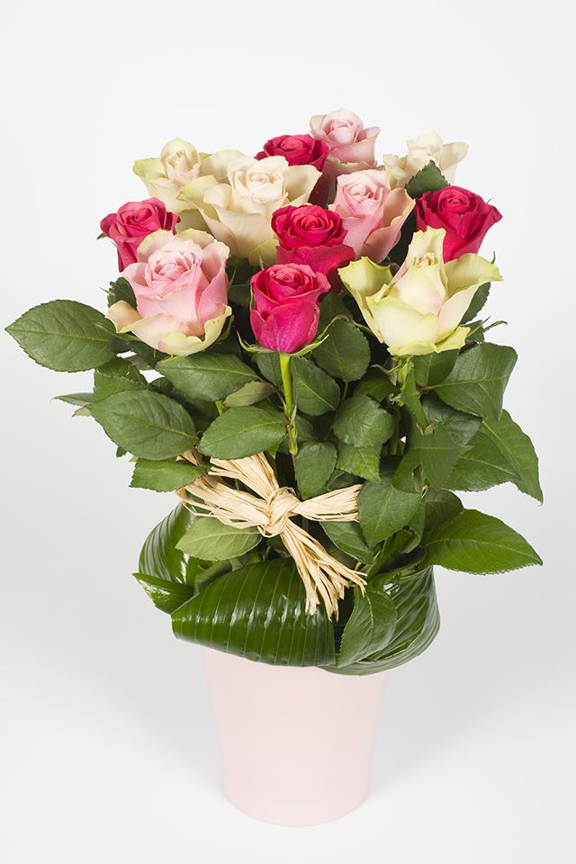 Composition florale hauteur en fagot bois livraison for Livraison composition florale